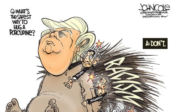 trump-racism-porcupine-cartoon